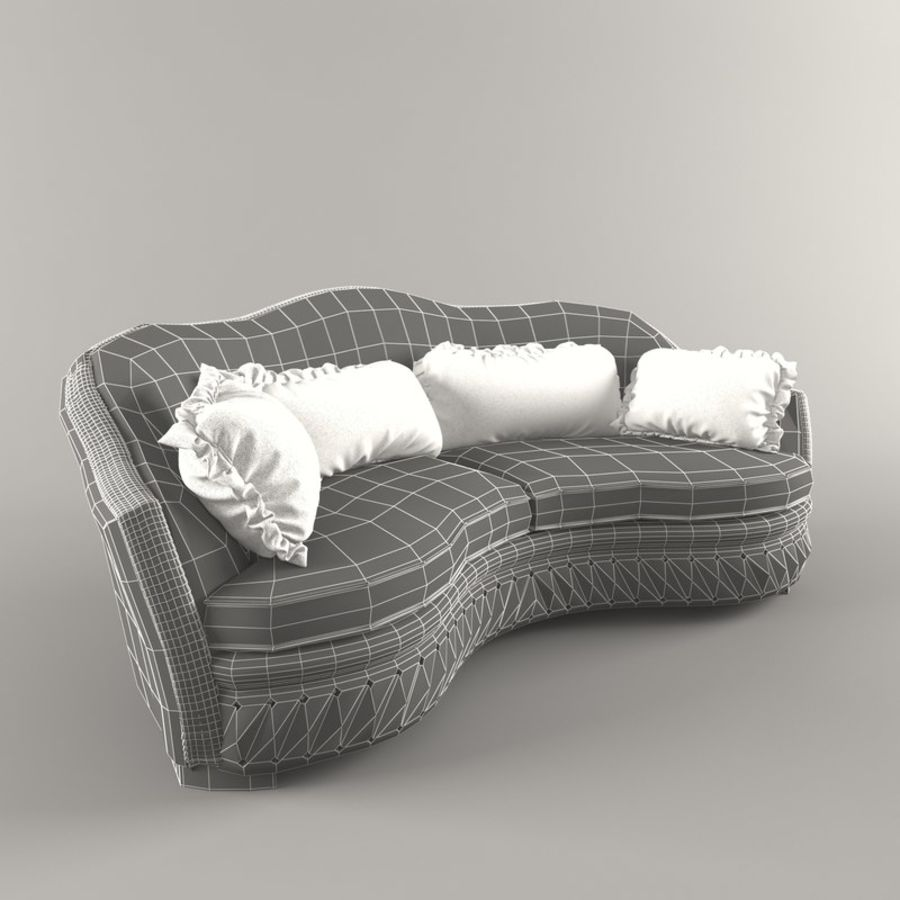 Sofa Zanaboni chester 2 seats royalty-free 3d model - Preview no. 6