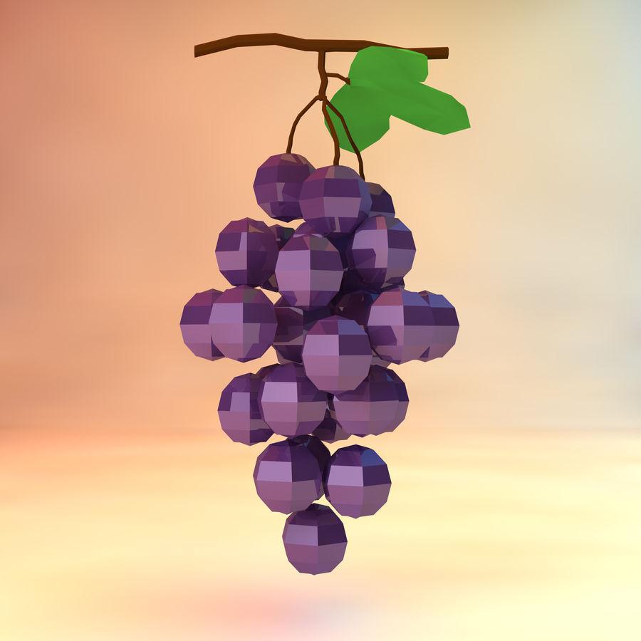 низкополигональный виноград (игра готова) royalty-free 3d model - Preview no. 1