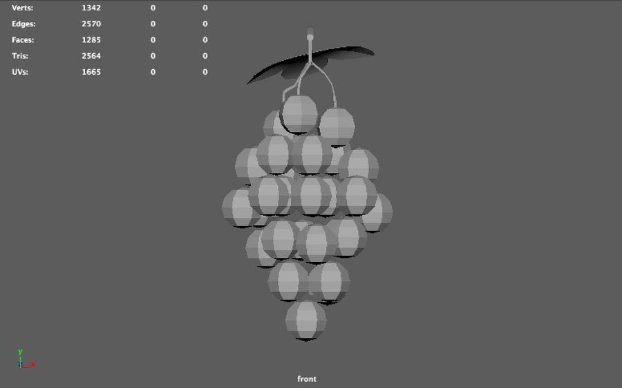 низкополигональный виноград (игра готова) royalty-free 3d model - Preview no. 5