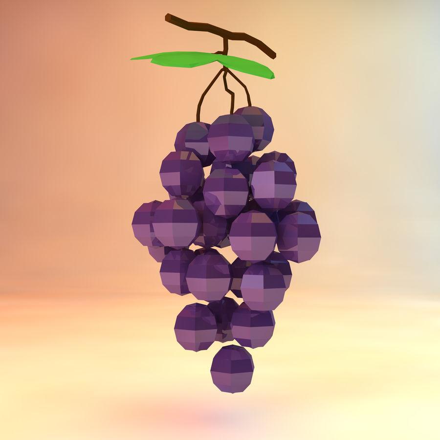 низкополигональный виноград (игра готова) royalty-free 3d model - Preview no. 2