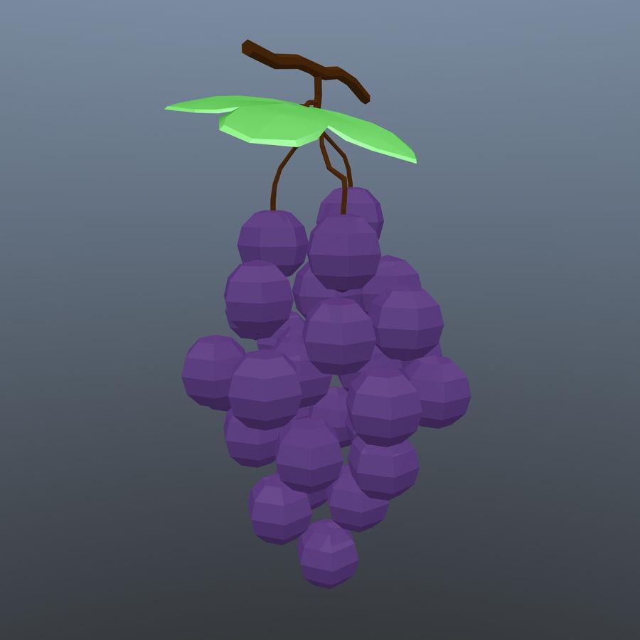 низкополигональный виноград (игра готова) royalty-free 3d model - Preview no. 3