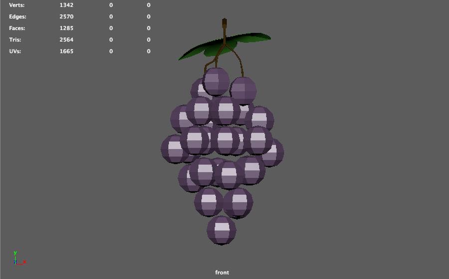 низкополигональный виноград (игра готова) royalty-free 3d model - Preview no. 6