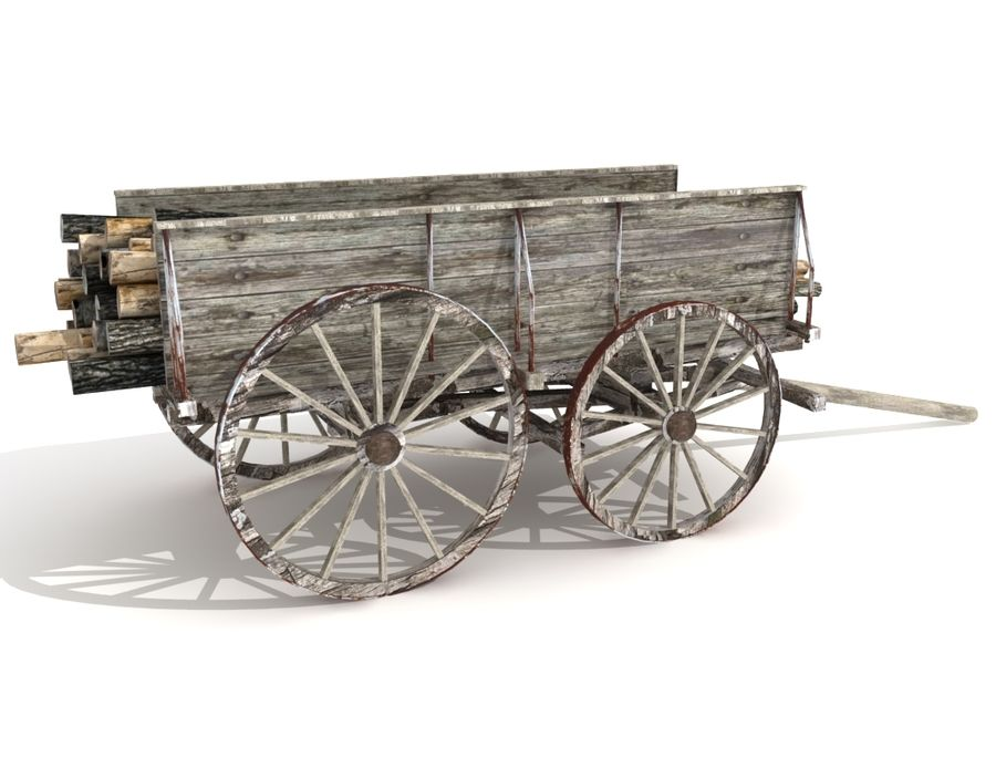 cart wagon royalty-free 3d model - Preview no. 4