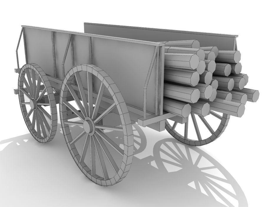 cart wagon royalty-free 3d model - Preview no. 6