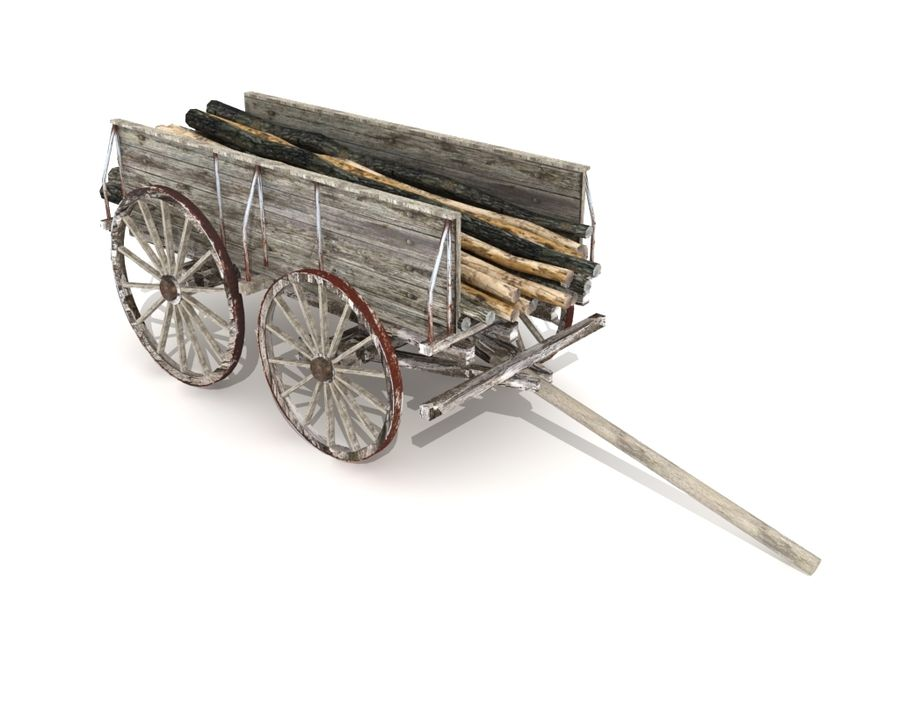 cart wagon royalty-free 3d model - Preview no. 1