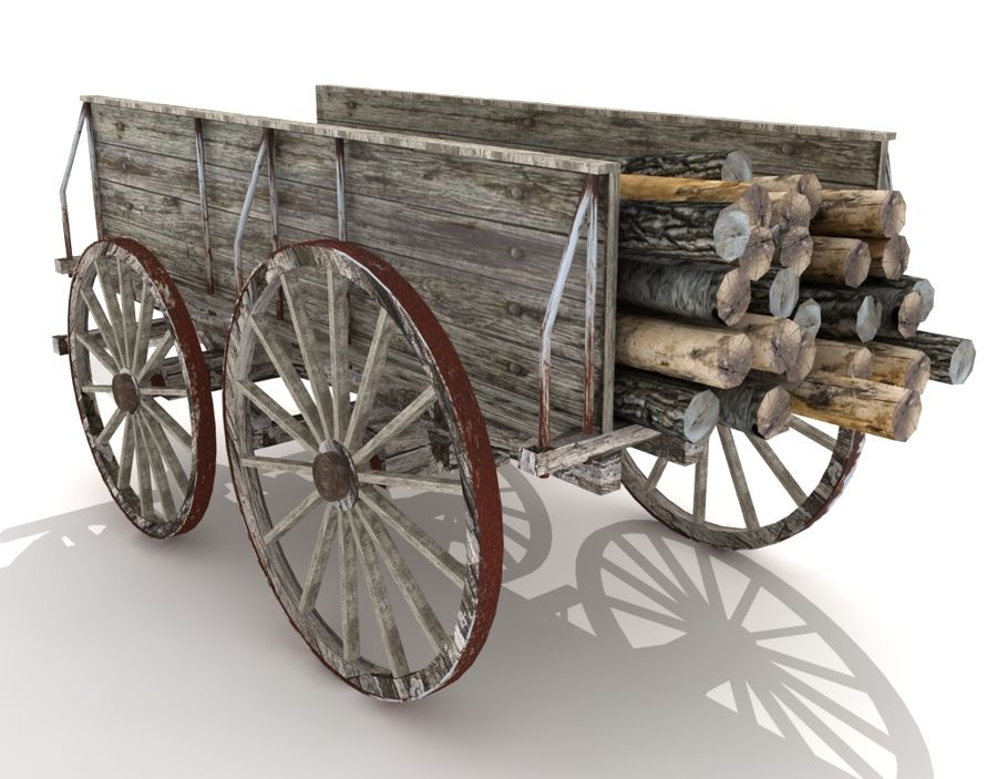 cart wagon royalty-free 3d model - Preview no. 3