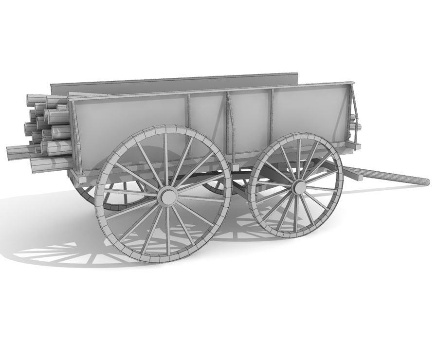 cart wagon royalty-free 3d model - Preview no. 7