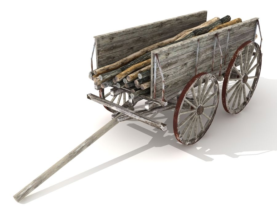 cart wagon royalty-free 3d model - Preview no. 2