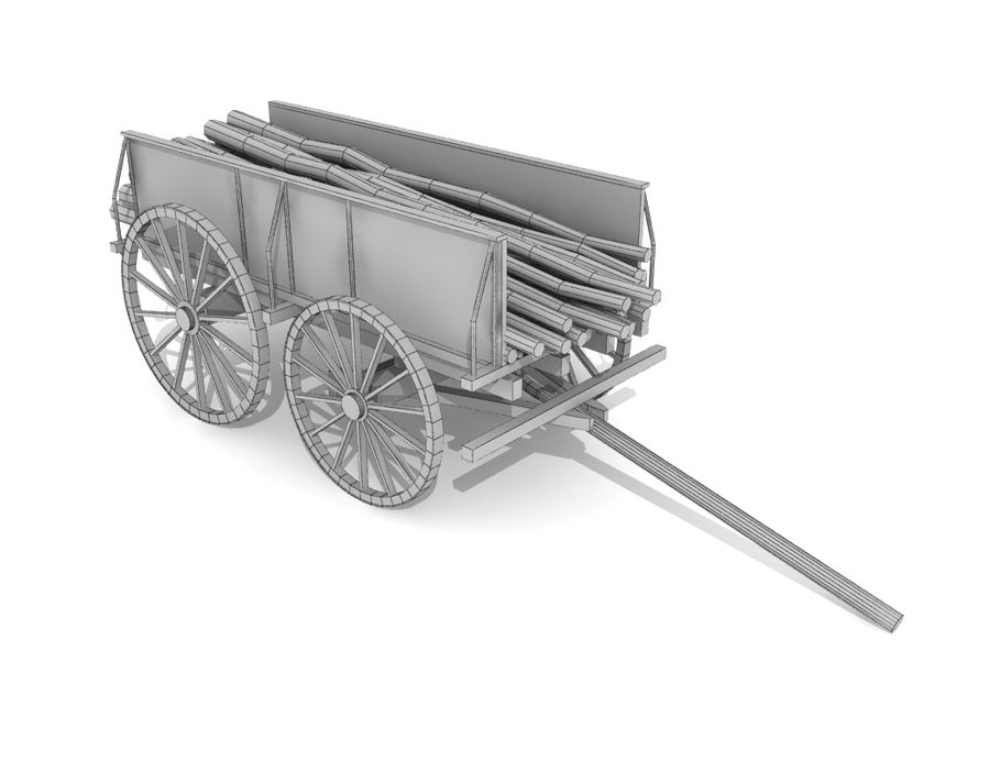 cart wagon royalty-free 3d model - Preview no. 5