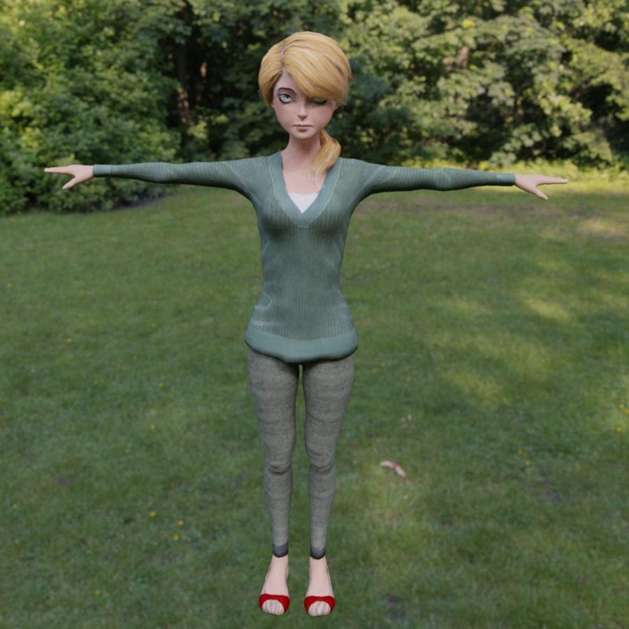 Elen royalty-free 3d model - Preview no. 2