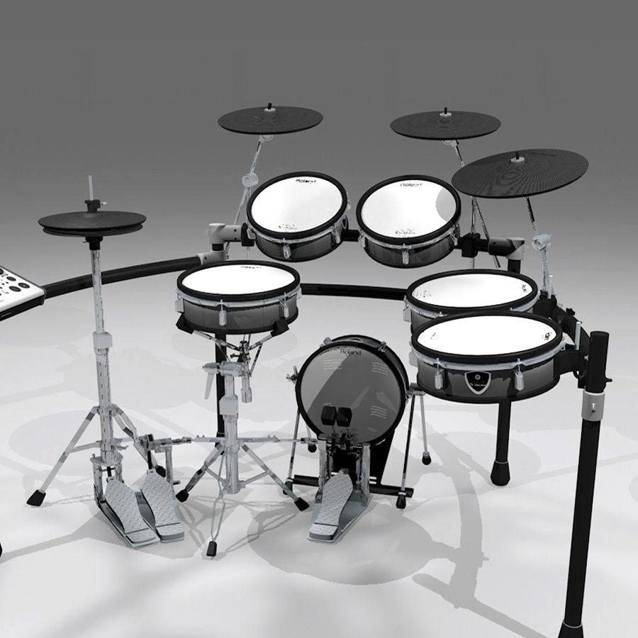 Electronic Drum Kit Roland V Drums Td20 3d Model 12 C4d Free3d