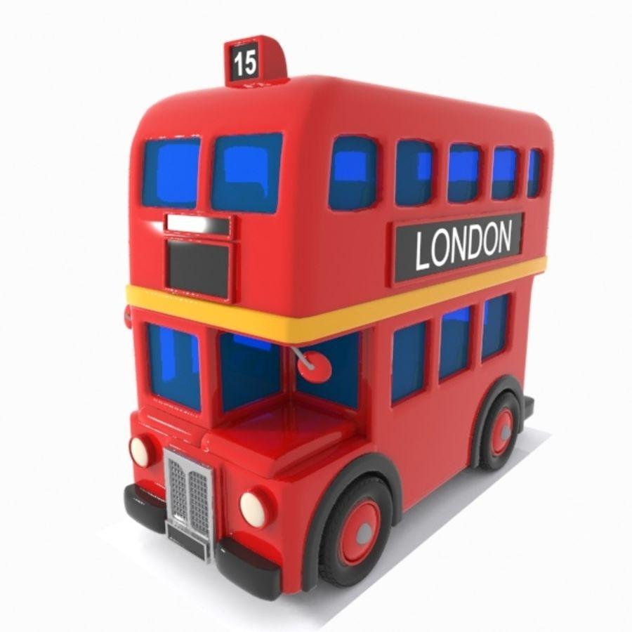Cartoon Double-Decker Bus royalty-free 3d model - Preview no. 5