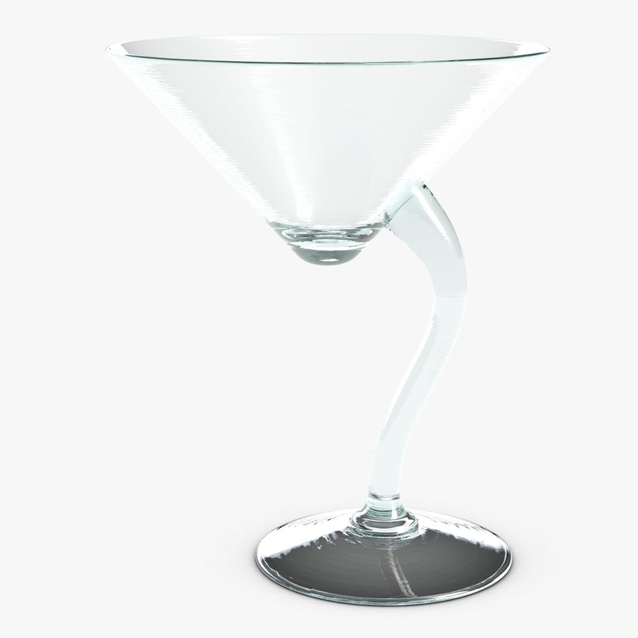 Long Drink Glass 1 royalty-free 3d model - Preview no. 2
