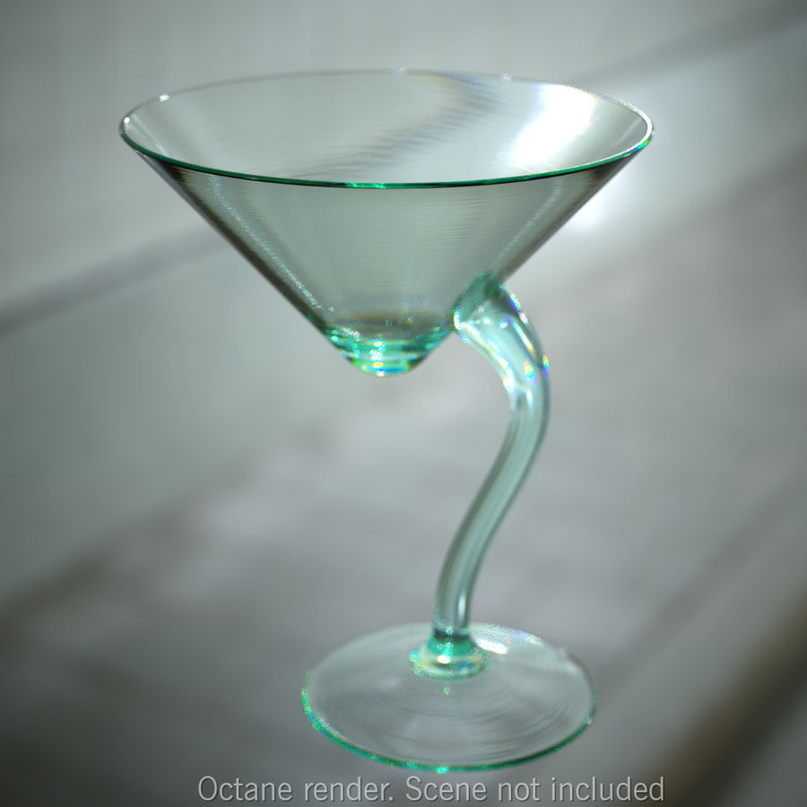 Long Drink Glass 1 royalty-free 3d model - Preview no. 1