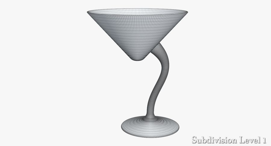 Long Drink Glass 1 royalty-free 3d model - Preview no. 5