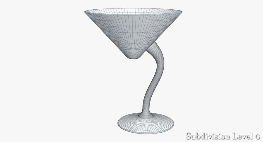 Long Drink Glass 1 royalty-free 3d model - Preview no. 4