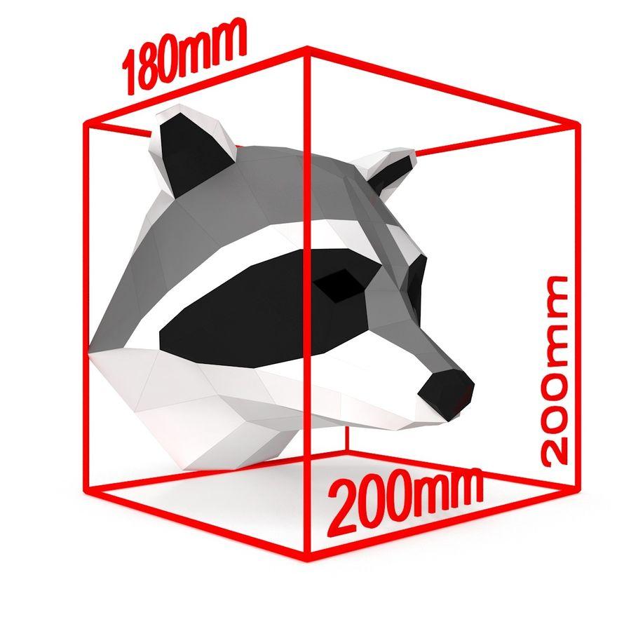 Papier de tête de raton laveur royalty-free 3d model - Preview no. 6