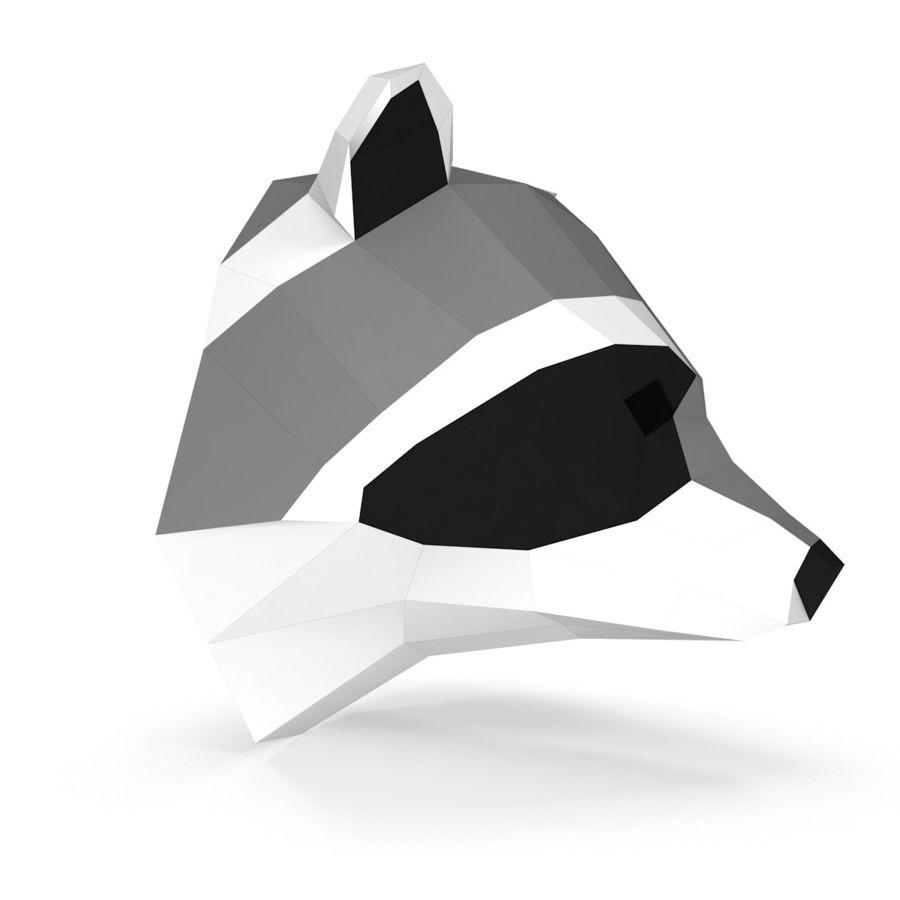 Papier de tête de raton laveur royalty-free 3d model - Preview no. 2