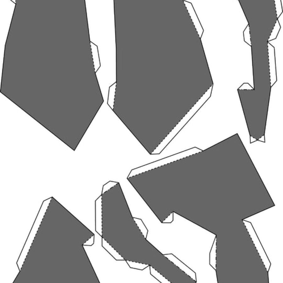 Papier de tête de raton laveur royalty-free 3d model - Preview no. 10