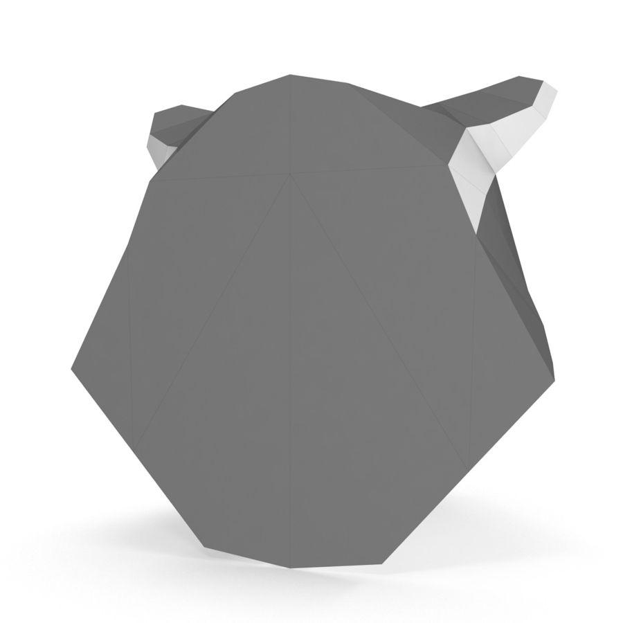 Papier de tête de raton laveur royalty-free 3d model - Preview no. 5