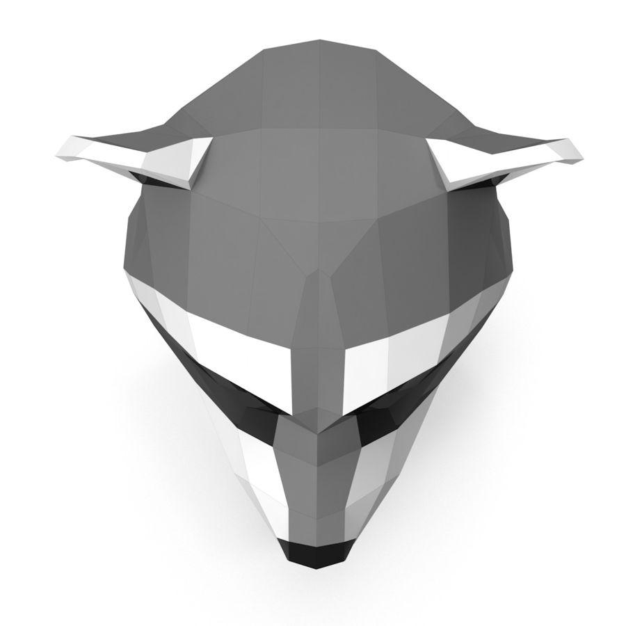 Papier de tête de raton laveur royalty-free 3d model - Preview no. 3