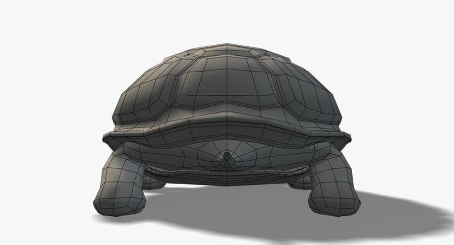 Cartoon Turtle royalty-free 3d model - Preview no. 10