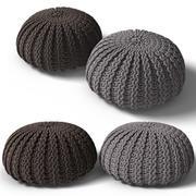 pouf tricoté 3d model