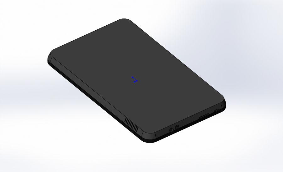 электронный планшет royalty-free 3d model - Preview no. 2
