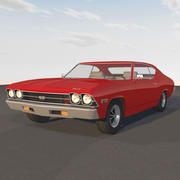 1969 Chevelle SS With Opening Doors and Hood 3d model
