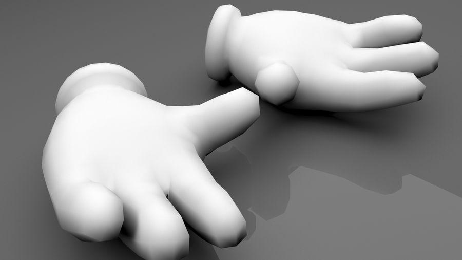 Glove Hands royalty-free 3d model - Preview no. 5