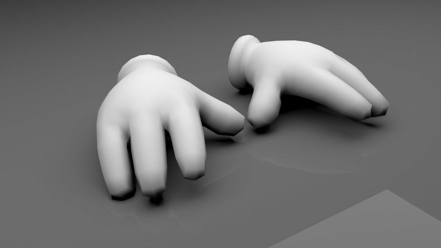 Glove Hands royalty-free 3d model - Preview no. 1