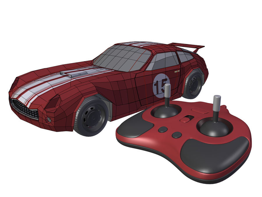 Toy Car royalty-free 3d model - Preview no. 4