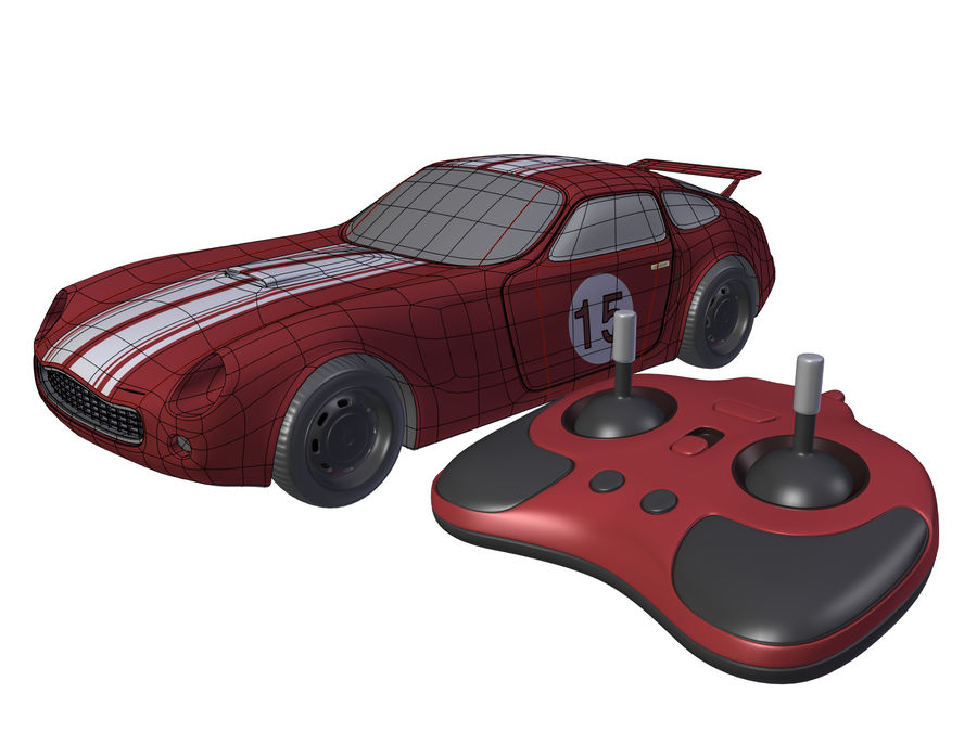 Toy Car royalty-free 3d model - Preview no. 3
