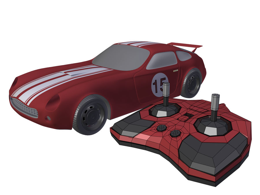 Toy Car royalty-free 3d model - Preview no. 7