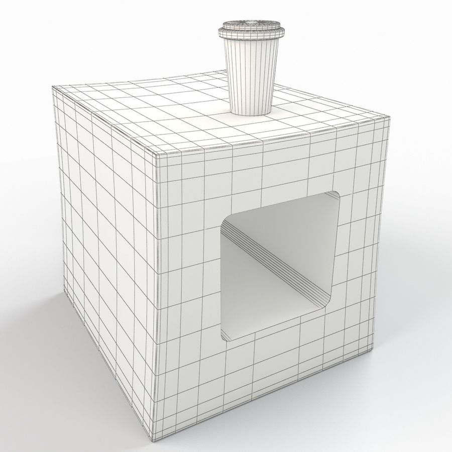 Nightstand royalty-free 3d model - Preview no. 5