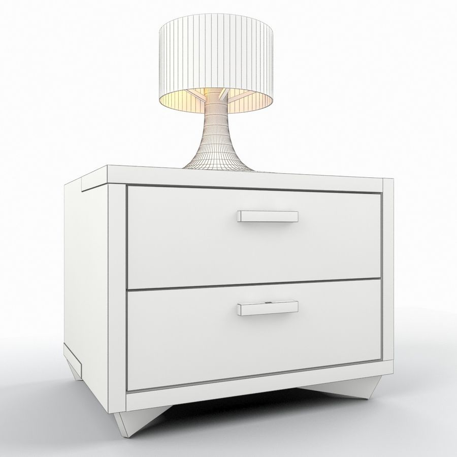 Nightstand royalty-free 3d model - Preview no. 6