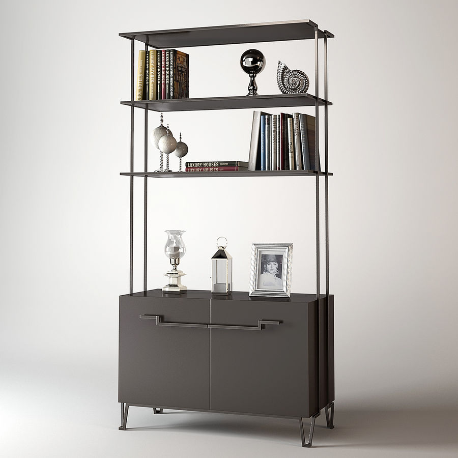 Baker Living Room Iron Eye Etagere 3D Model $19 - .obj .max .fbx ...