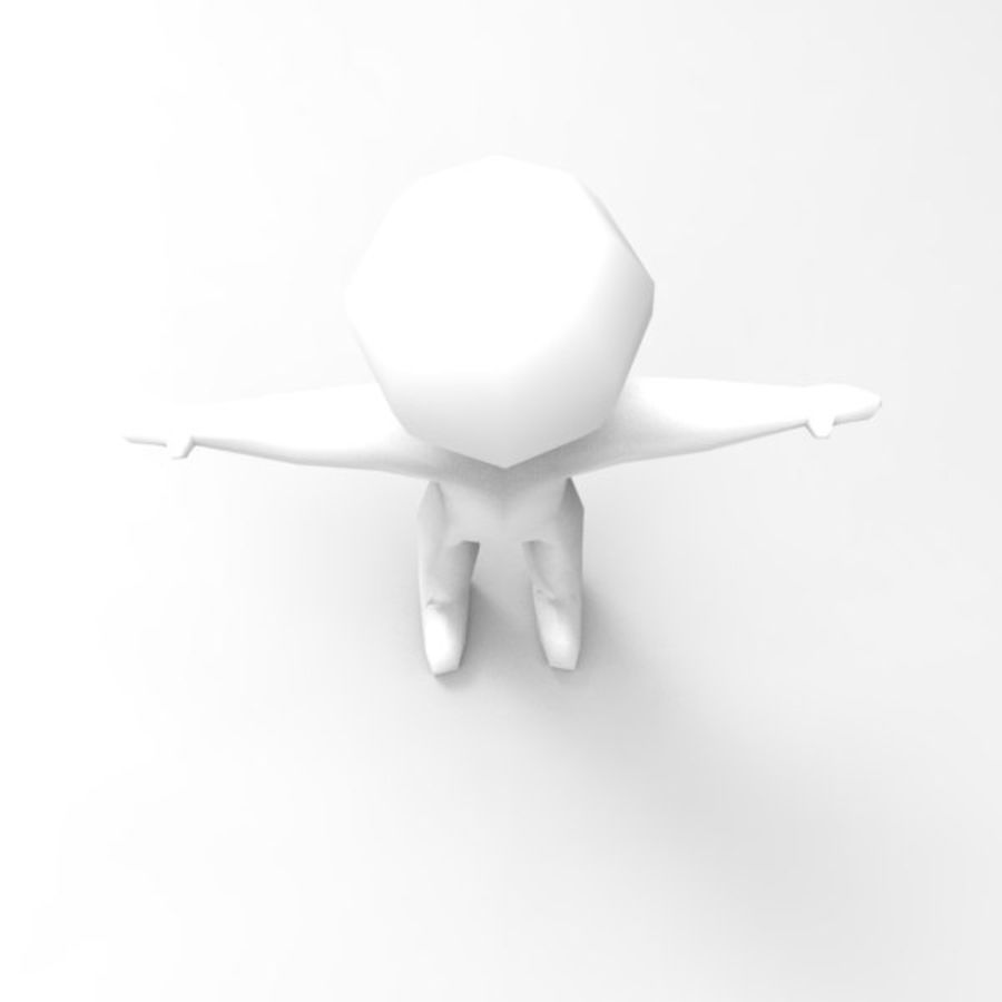 Low Poly Stickman royalty-free 3d model - Preview no. 5