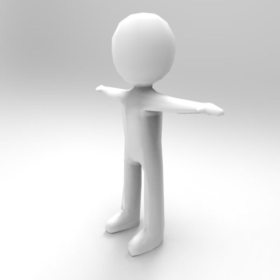 Low Poly Stickman royalty-free 3d model - Preview no. 4
