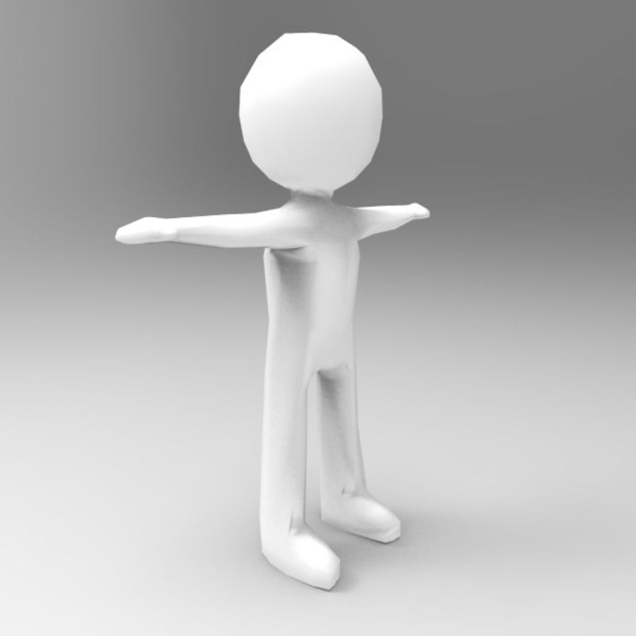 Low Poly Stickman royalty-free 3d model - Preview no. 3