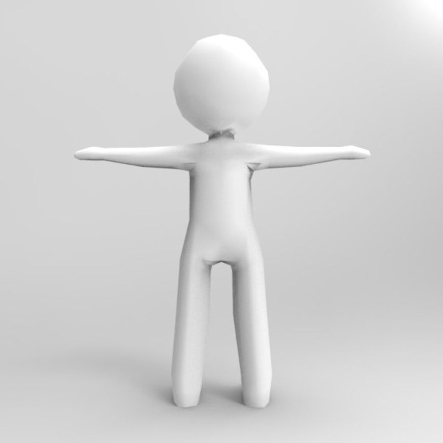 Low Poly Stickman royalty-free 3d model - Preview no. 7