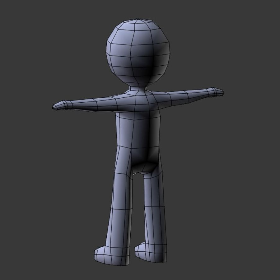 Low Poly Stickman royalty-free 3d model - Preview no. 10