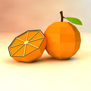 low poly orange (game ready) 3d model