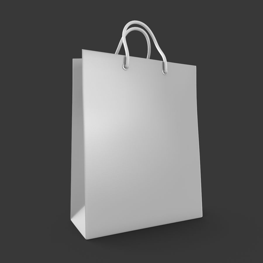 Shopping Bag royalty-free 3d model - Preview no. 2