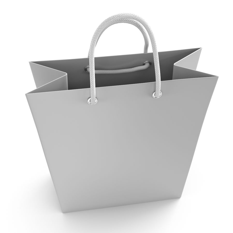 Shopping Bag royalty-free 3d model - Preview no. 7