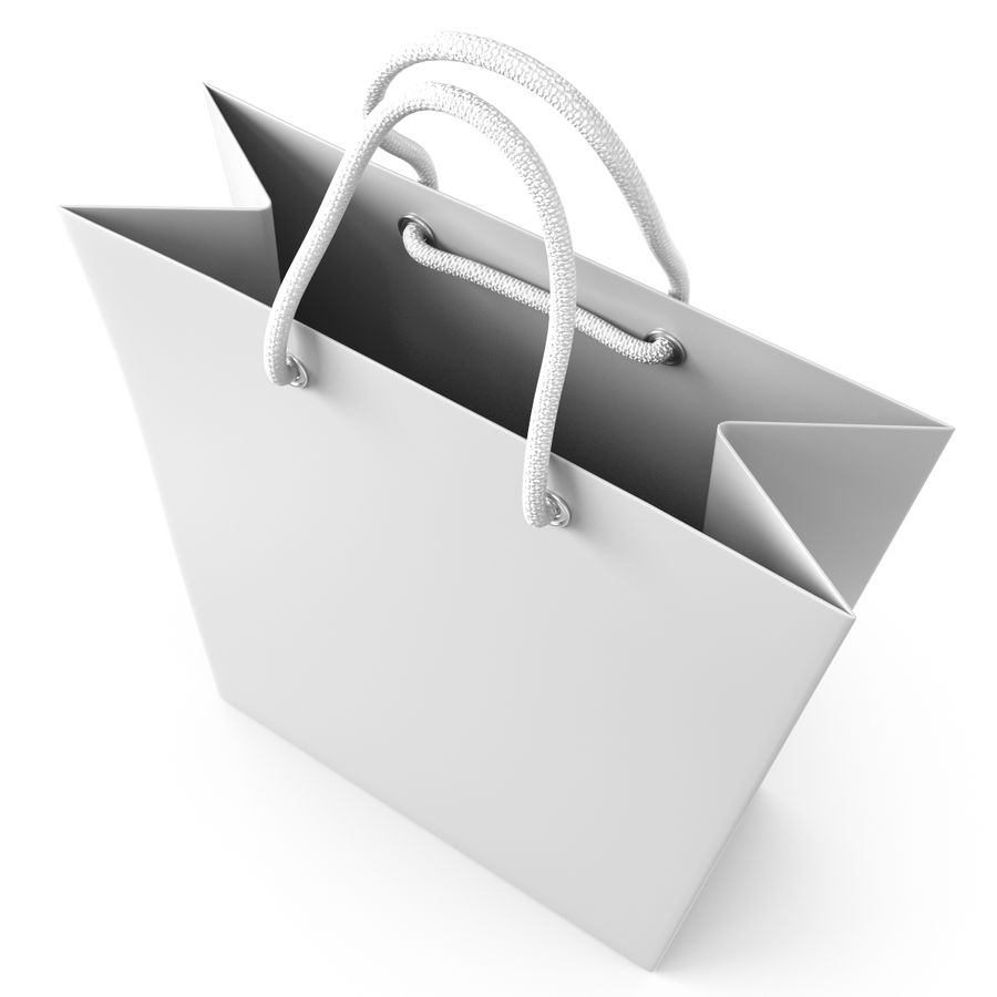 Shopping Bag royalty-free 3d model - Preview no. 5