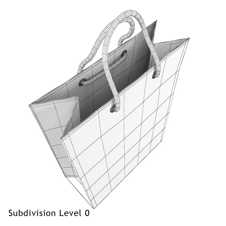 Shopping Bag royalty-free 3d model - Preview no. 10