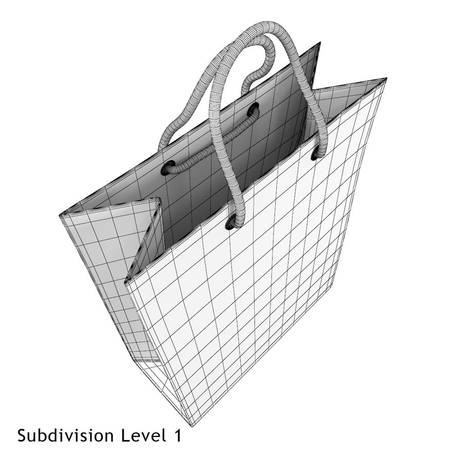 Shopping Bag royalty-free 3d model - Preview no. 11