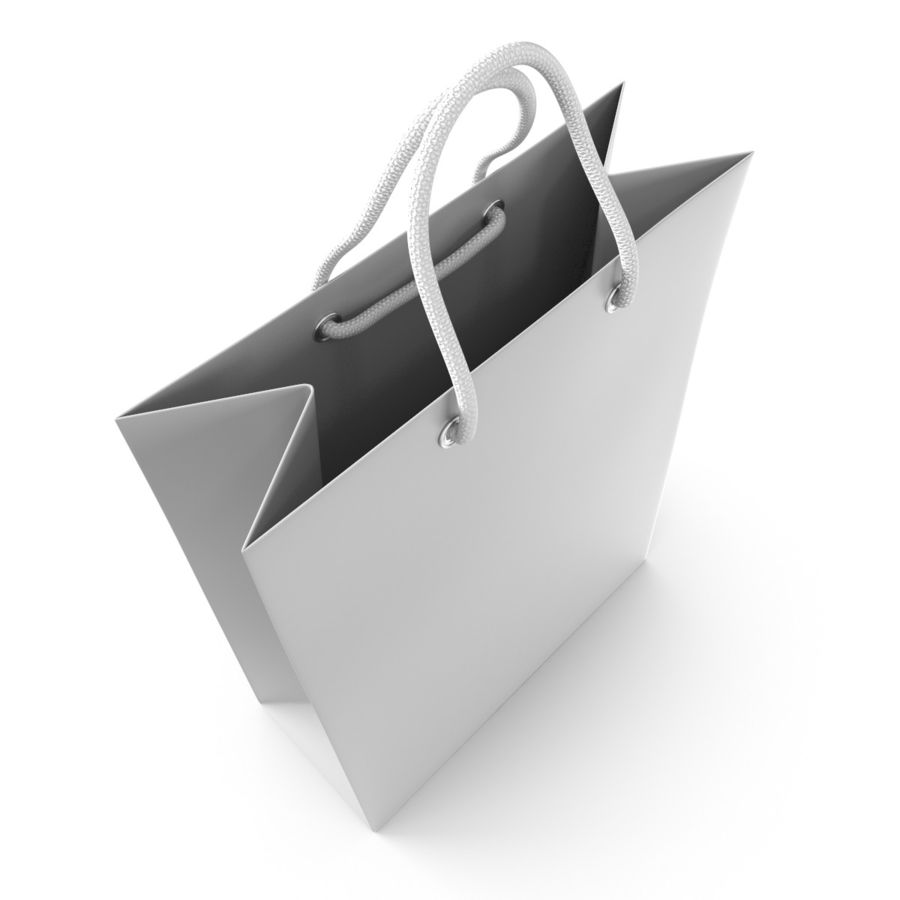 Shopping Bag royalty-free 3d model - Preview no. 8