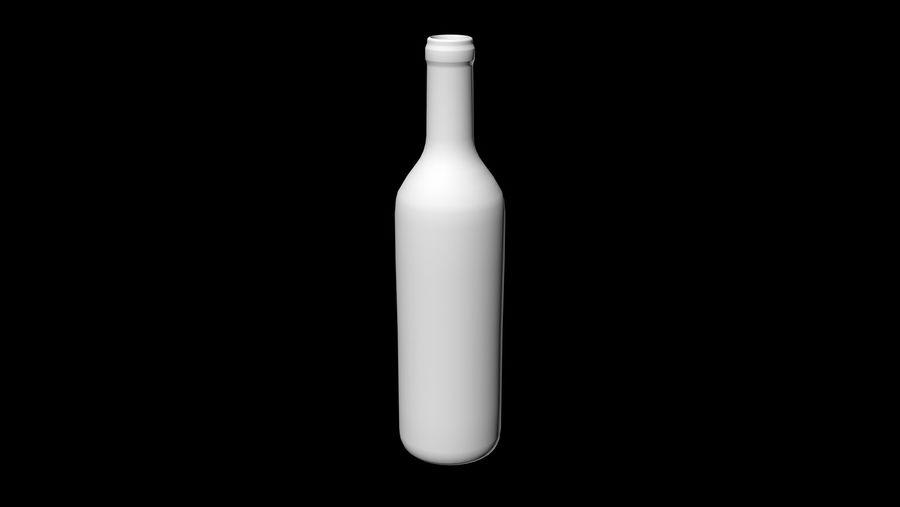 bottle glass royalty-free 3d model - Preview no. 4